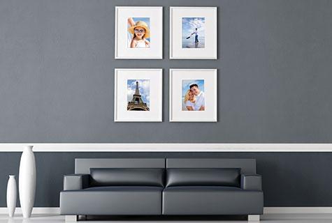 cr er un mur de photos en 5 tapes jean coutu. Black Bedroom Furniture Sets. Home Design Ideas