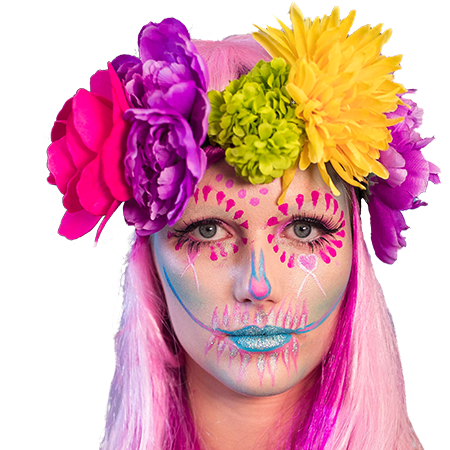 Sugar Skull and the Suicide Squad… 2 Halloween makeup styles