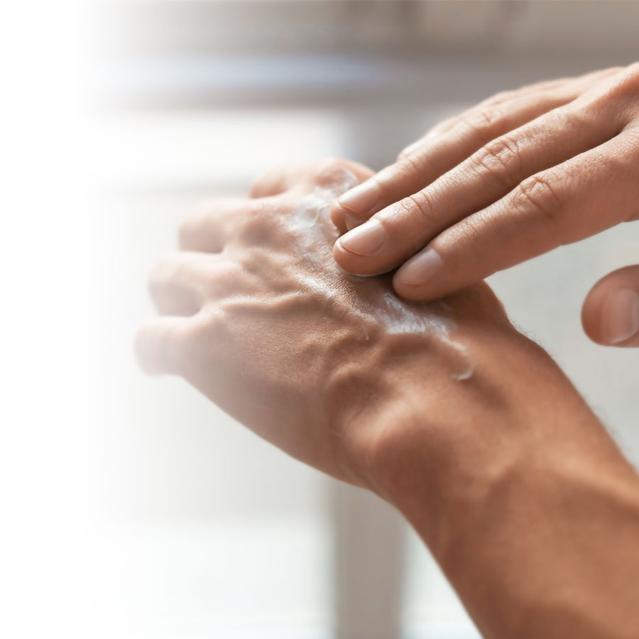 How do you repair dry hands and nails?
