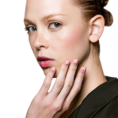 3 nail polishes, 5 manicure ideas