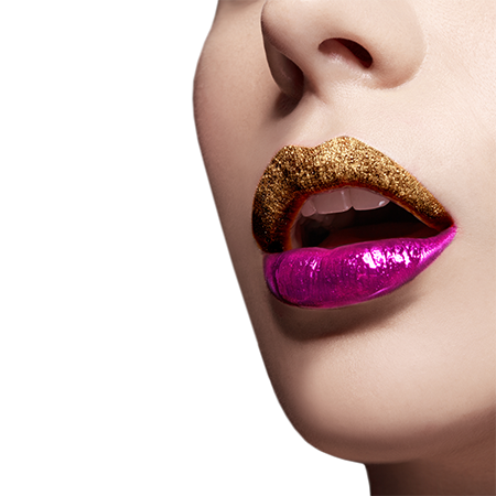 The daring metallic lips trend