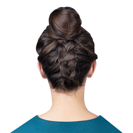 Hairstyle tutorial: reverse braid with bun