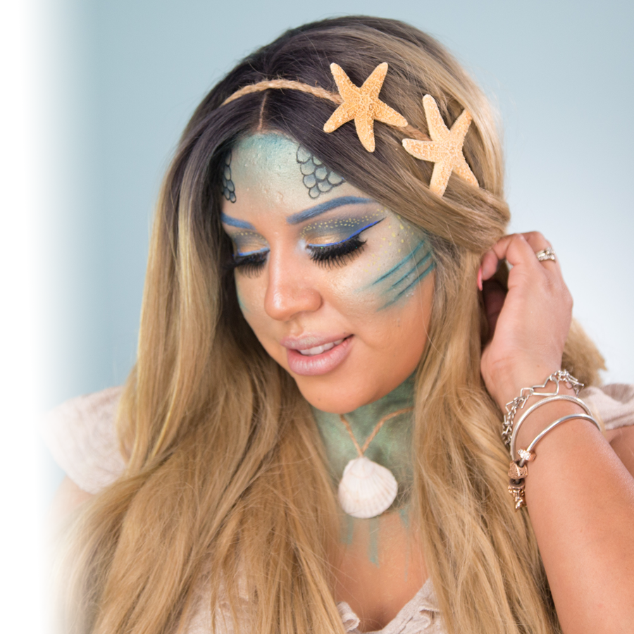 Makeup: become a mermaid this Halloween