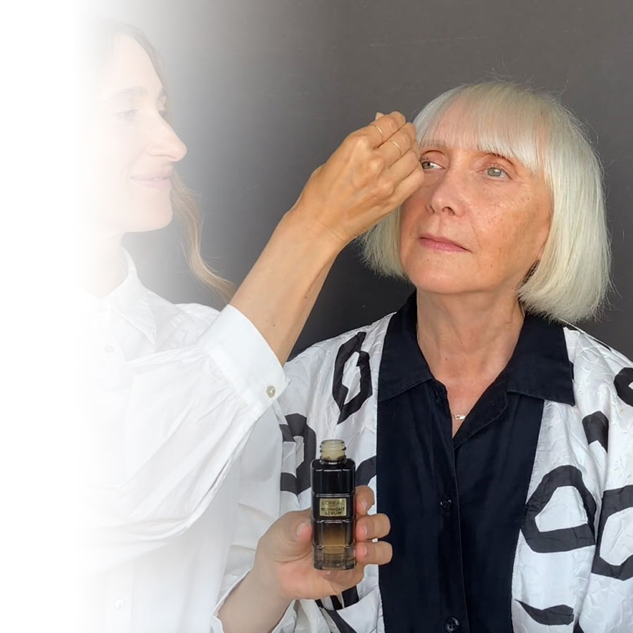 A custom beauty routine for mature skin