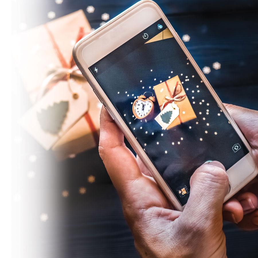 Photographier Noël avec un cellulaire