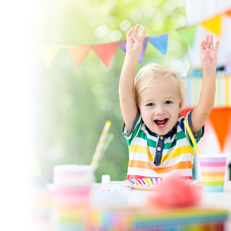 Create a photobook for your child's birthday party