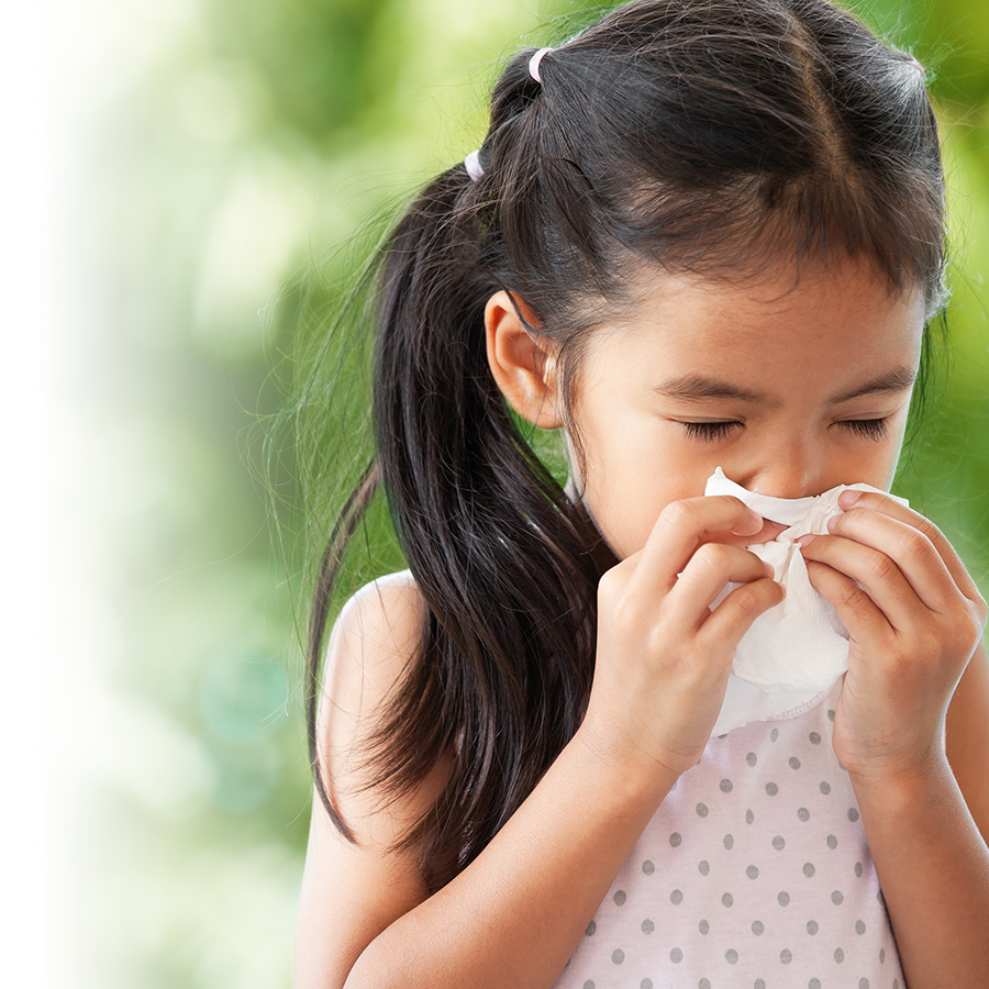 Seasonal allergy relief for children
